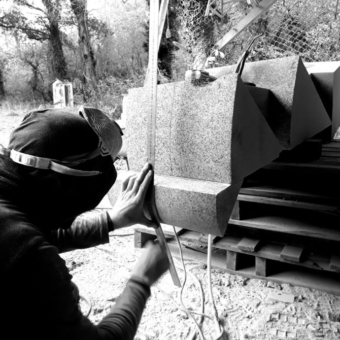 sculpture en Granite Bretagne Lucien Mazé Bretagne