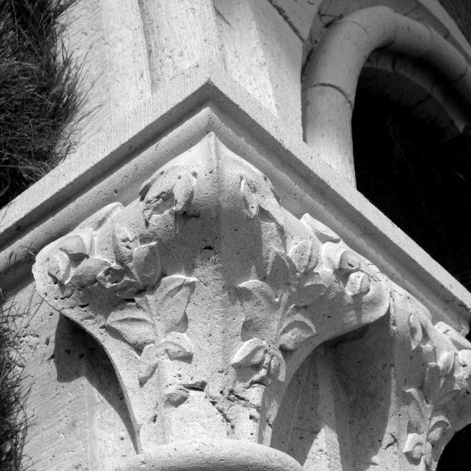 Ornementation calcaire Gothique Port royal des Champs Lucien Mazé