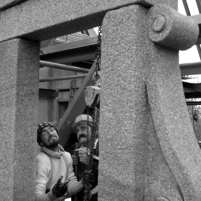 lucarne granite Lucien Mazé Taille de pierre La Coudraie bretagne