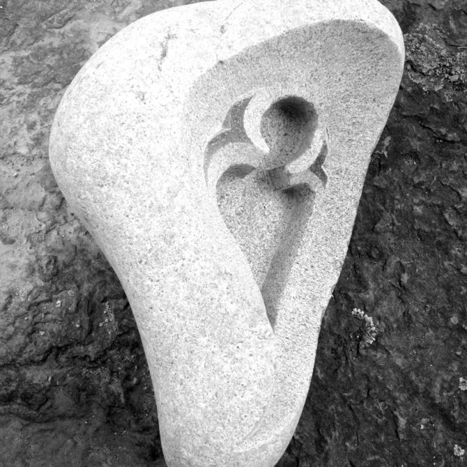 Gravure gothique Lucien Mazé taille de pierre Bretagne