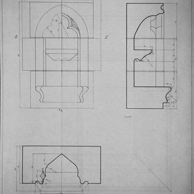 Taille de pierre Bretagne Lucien Maze- dessin BPMH