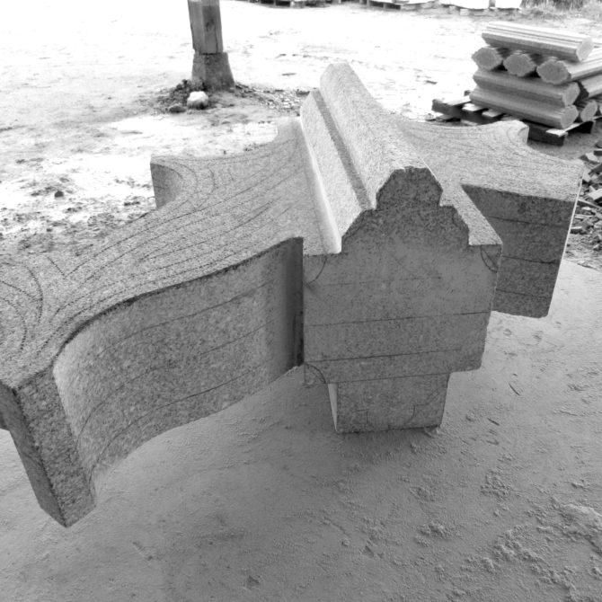 Taille de pierre granite fenestrage gothique Merleac Lucien Mazé