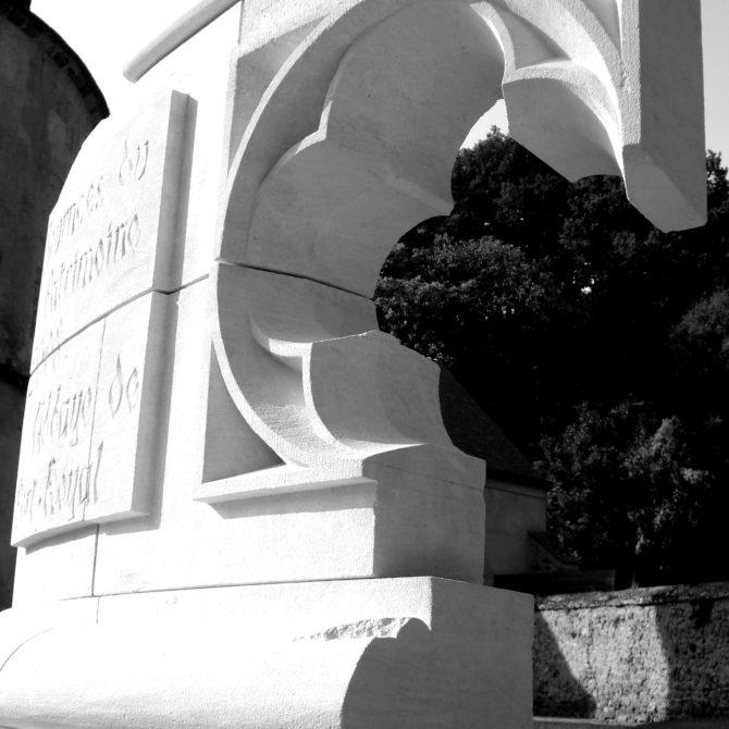 Taille de pierre gravure pierre calcaire Gothique Port royal des Champs Lucien Mazé